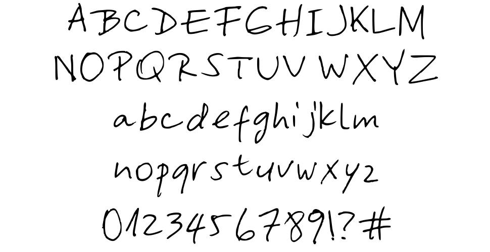 Yasna's Hand font