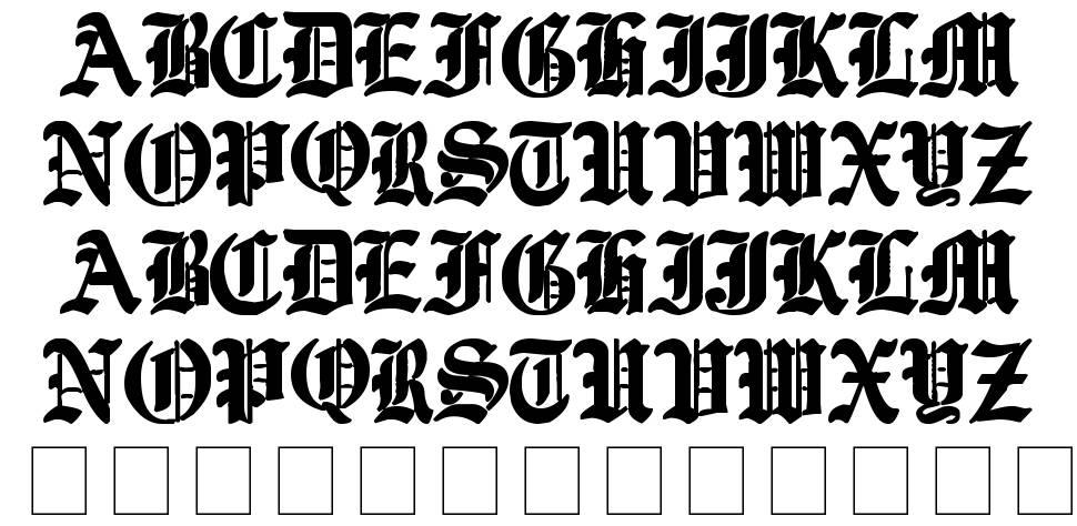 Ye Old Shire font