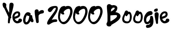 Year 2000 Boogie font