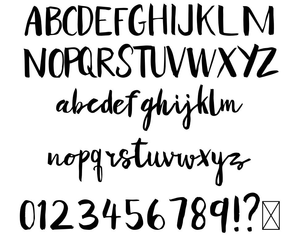Yellow Honey font