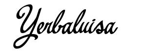 Yerbaluisa schriftart