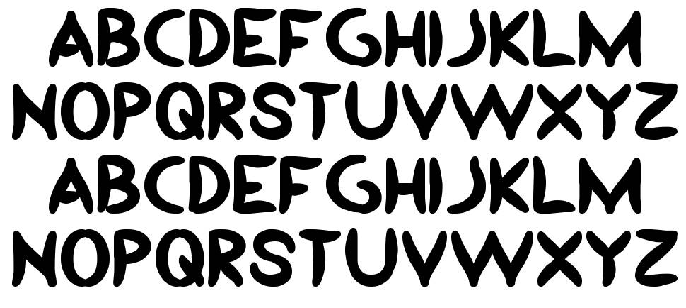 Yesterday font