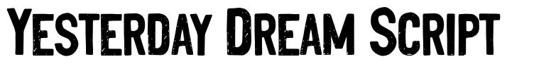 Yesterday Dream Script fonte
