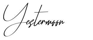 Yestermoon font