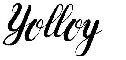 Yolloy шрифт