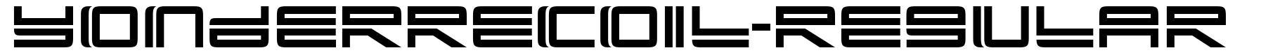 YonderRecoil-Regular font
