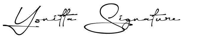 Yonitta Signature fonte