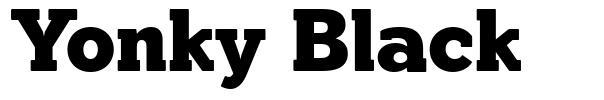 Yonky Black font