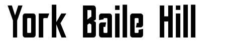 York Baile Hill font