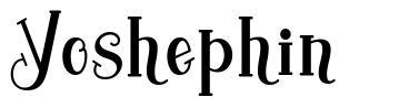 Yoshephin шрифт
