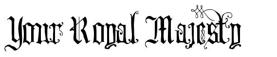 Your Royal Majesty font