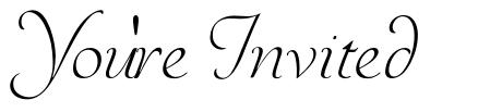 You're Invited font