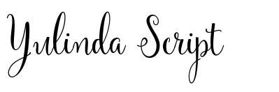 Yulinda Script 字形