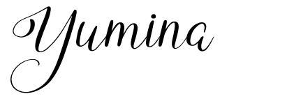 Yumina шрифт