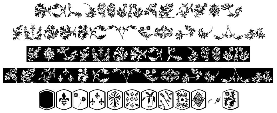 YY Old English Dingbats font