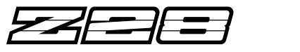 Z28 шрифт