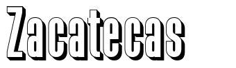 Zacatecas font