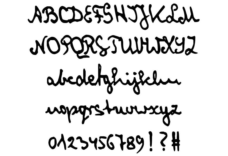 zai Cryptologist's Handwriting 1905 шрифт