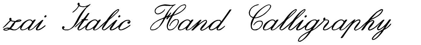 zai Italic Hand Calligraphy fonte