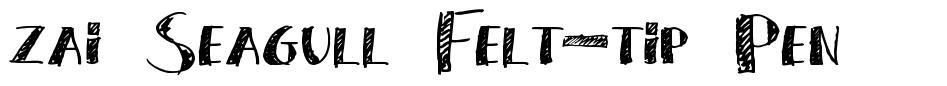 zai Seagull Felt-tip Pen písmo