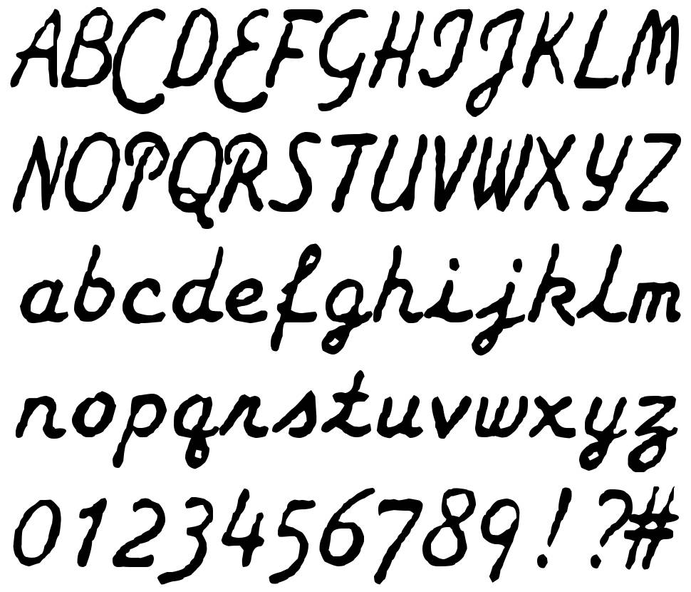 zai Smith-Corona Galaxie Typewriter font