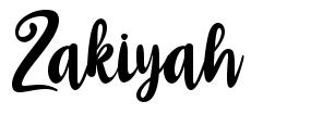 Zakiyah fonte