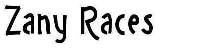 Zany Races fonte