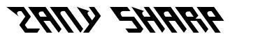 Zany Sharp fonte