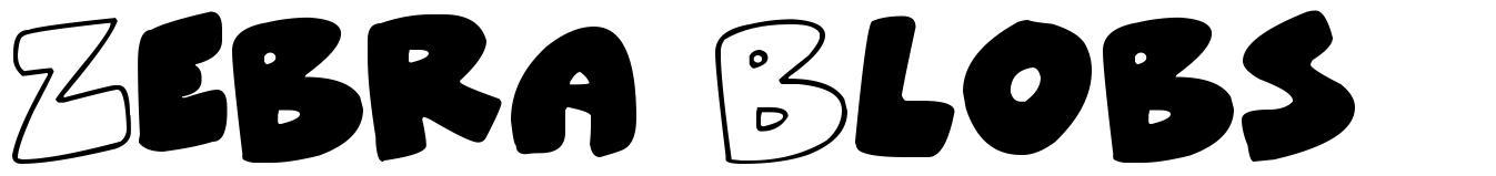 Zebra Blobs шрифт