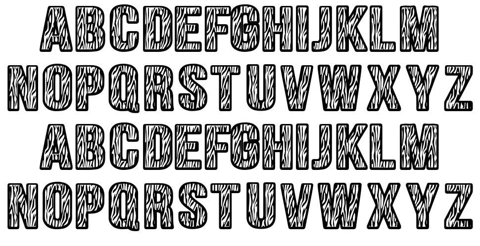 Zebraliner font