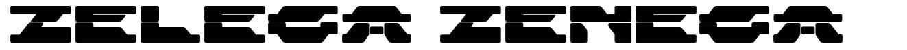 Zelega Zenega font