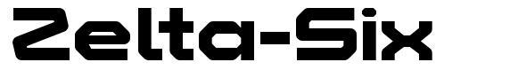 Zelta-Six font