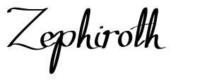 Zephiroth font