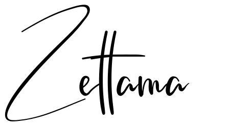Zettama font