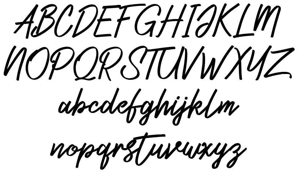Zeuty Script шрифт