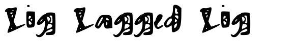 Zig Zagged Zig font