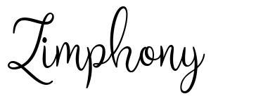 Zimphony шрифт