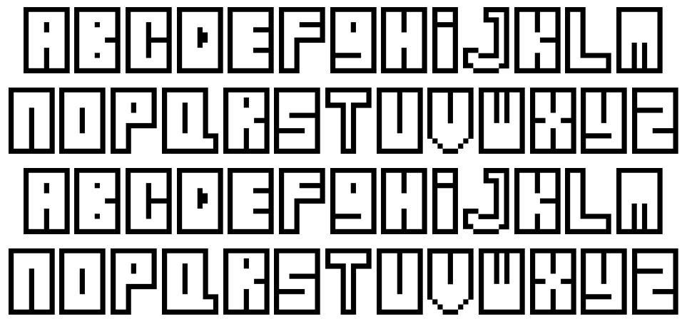 Zipper font