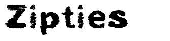 Zipties フォント