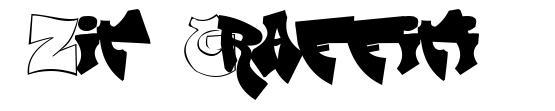 Zit Graffiti 字形