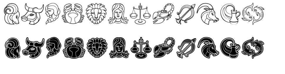 Zodiac Signs font