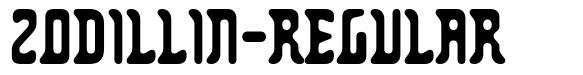 Zodillin-Regular font