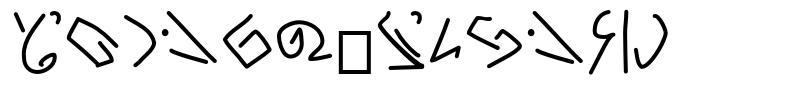 Zomper Glyphs font