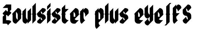 Zoulsister plus eYe/FS font