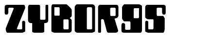 Zyborgs font
